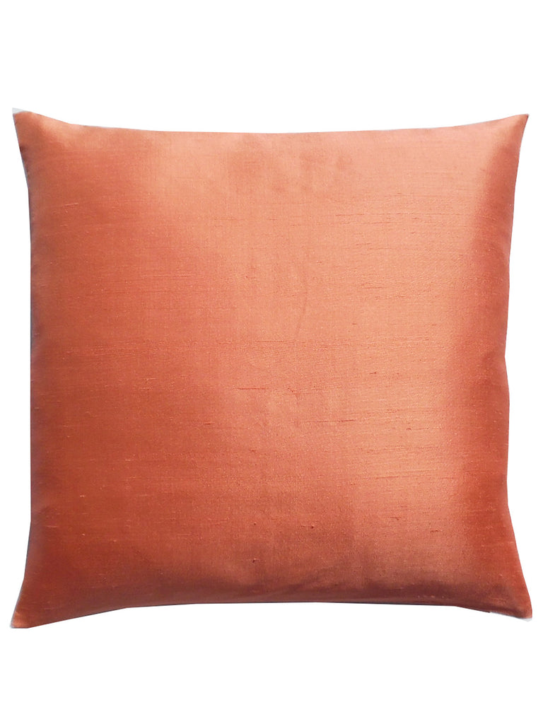 Thai Silk Solid Pillow Terracotta