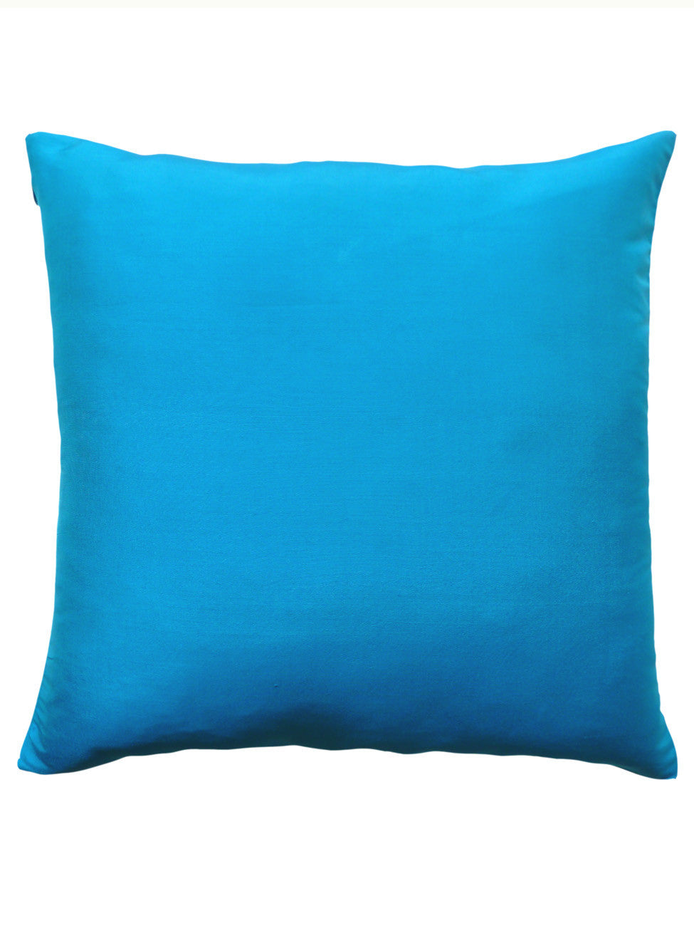 Thai Silk Solid Pillow Turquoise