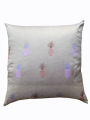 Burmese King Size Square Pillows Beige Pineapple