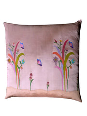"Burmese Silk 30"" Euro Or Floor Pillows Pink Floral"