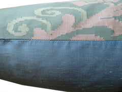 "Burmese Silk 30"" Euro Or Floor Pillows Slate Blue"
