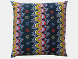 Burmese Silk Pillow Black And Orange