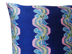 Burmese Silk Pillow Blue Ribbon