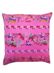 Burmese Silk Pillow Hot Pink