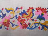 Burmese Silk Pillow Ivory Swirl And Scroll