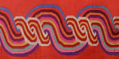 Burmese Silk Pillow Orange Swirl