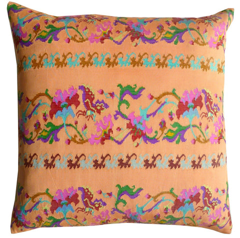 Burmese Silk Pillow Peach
