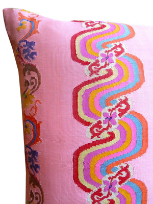 Burmese Silk Pillow Pink