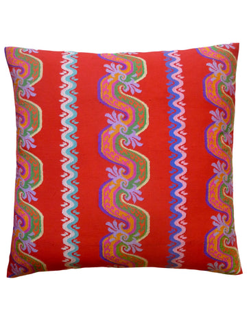 Burmese Silk Pillow Hawaiian Punch