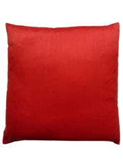 Burmese Silk Pillow Red Swirl