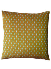 Cambodian Silk Ikat Pillow Acid Green And Orange