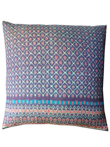 Cambodian Silk Ikat Pillow Purple