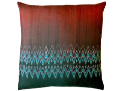 Thai Silk Modern Ikat Pillow Red Black