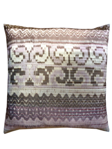 Thai Silk Modern Ikat Pillow Black White Pink