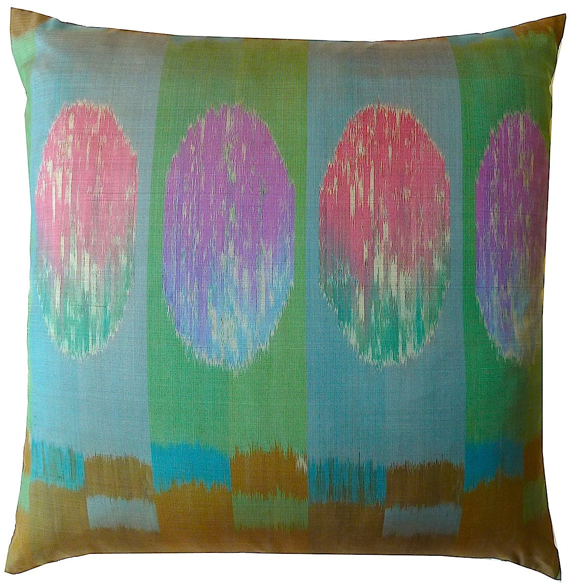 Thai Silk Modern Ikat Pillow Rothko 1
