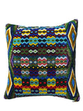 Hand Beaded Pillow Geo Multi Green