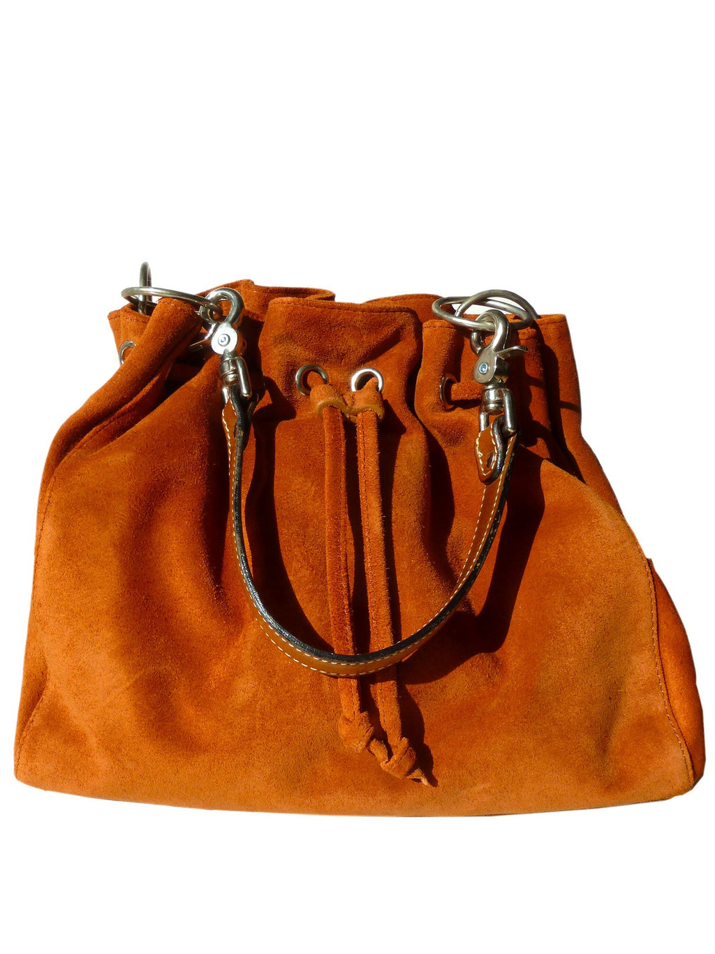 Draw String Hobo Pouch Suede