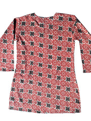 Raja Cotton Tunic Red Black Block