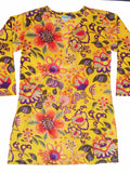 Raja Cotton Tunic Yellow Floral