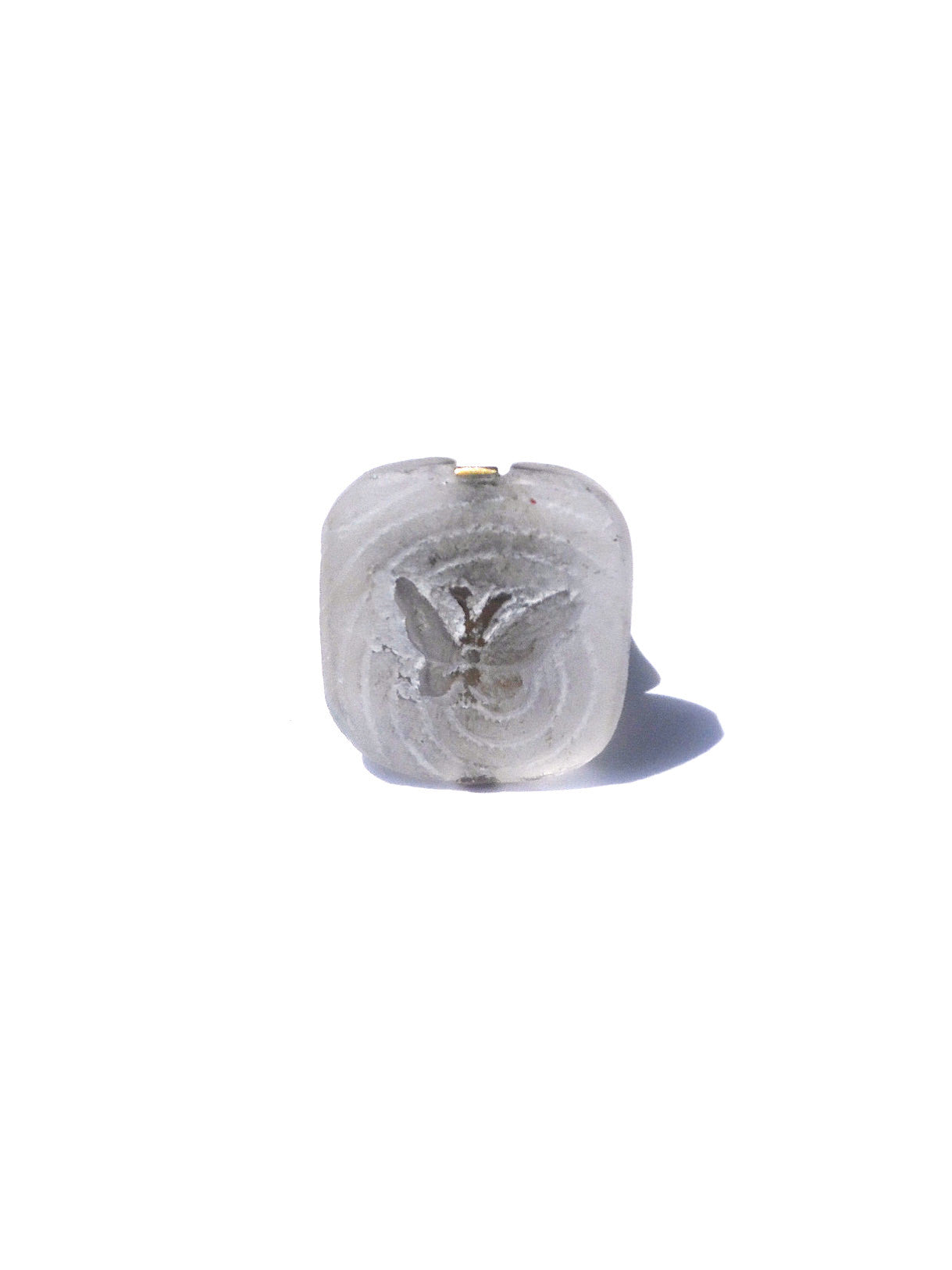Ring Hand Cast French Butterfly White