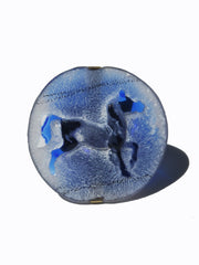 Ring Hand Cast French Glass Horse Round