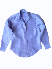 Thai Silk Button Down Shirt Lavender