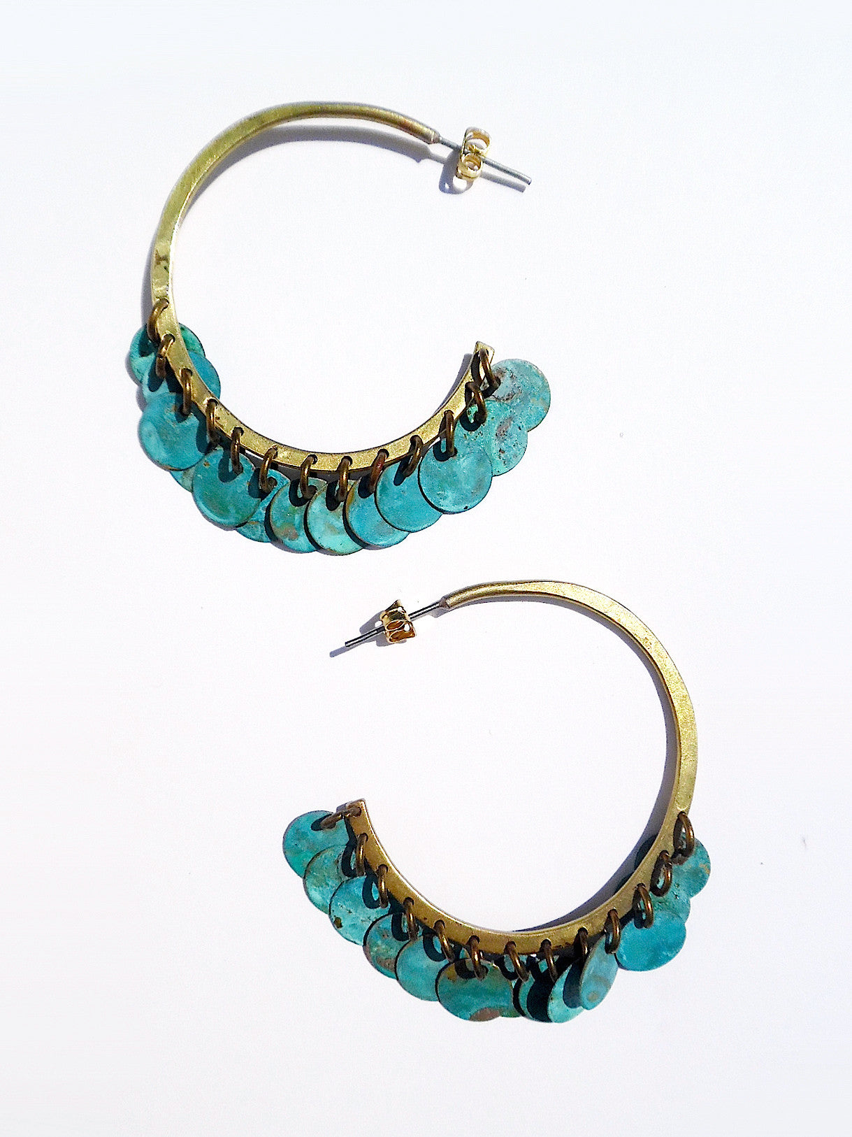 Earrings Arabia Hoops Patina Large