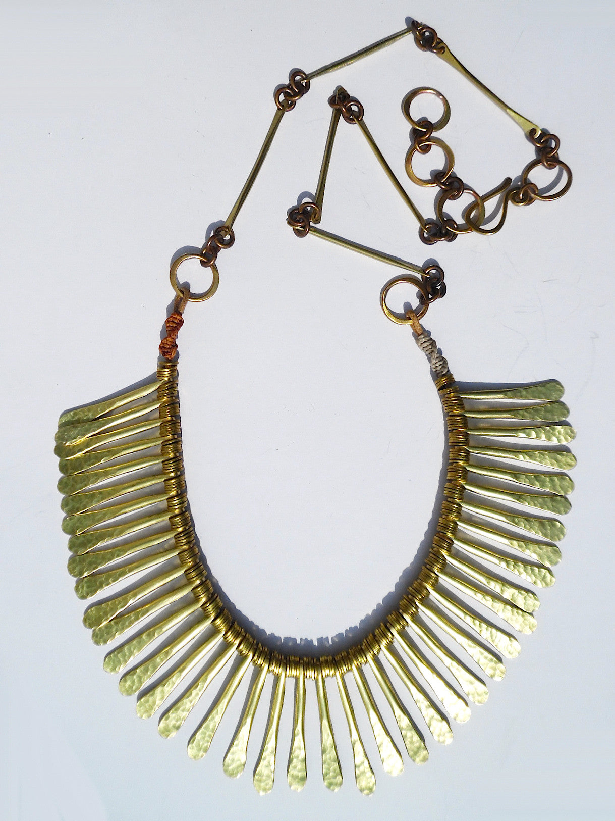 Necklace Caldo Long Drops Gold On Brass