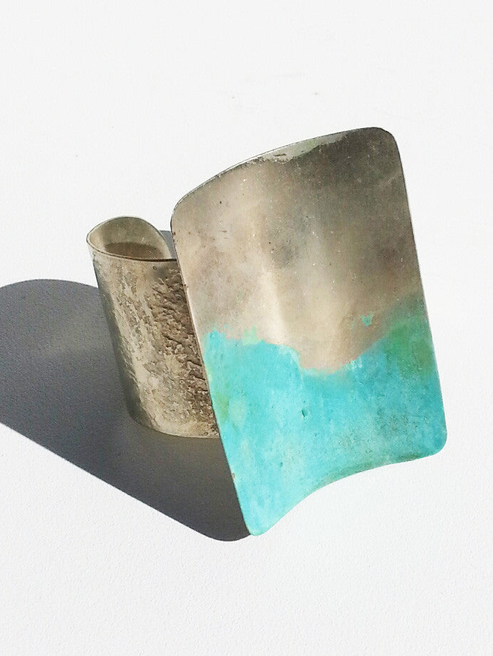 Cuff Bracelet Patina on Alpaca Silver
