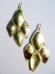 Earrings Diamond Mosaic Gold On Brass