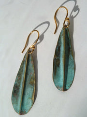 Earrings Patina Small Leaf By Sibilia