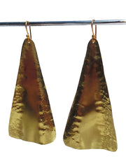Earrings Piramide Gold on Brass