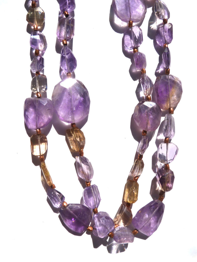 Necklace Ametrine And Copper