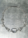 Necklace Quartz And Sterling Silver Icicle II