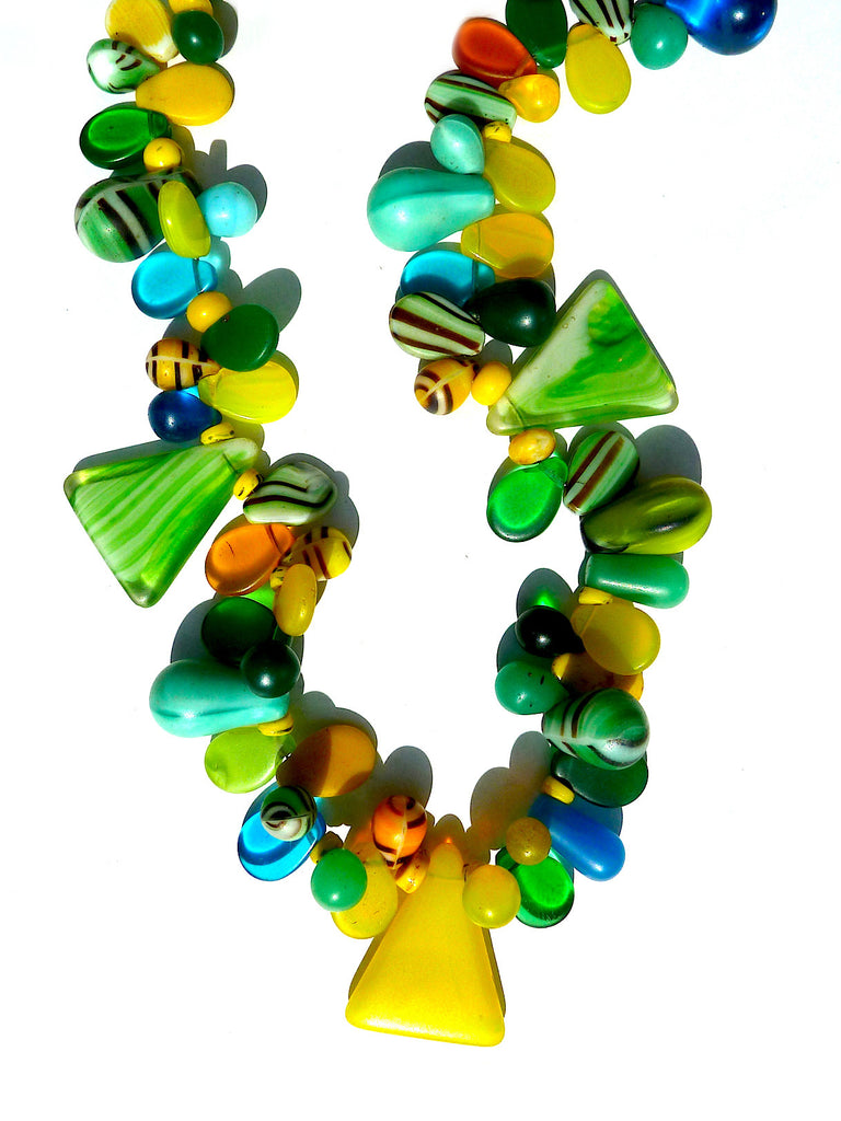 Necklace Mix Of African And Czech Glass