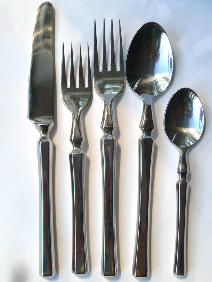Stainless Steel Roman Design 5 Piece Place Setting