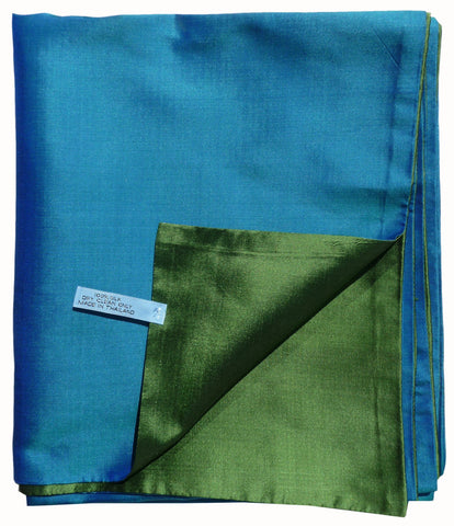 Double Sided Evening Shawl Blue Green Combinations
