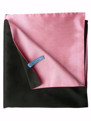 Double Sided Evening Shawl Black Pink