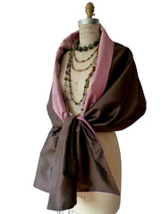 Double Sided Evening Shawl Chocolate Hyacinth