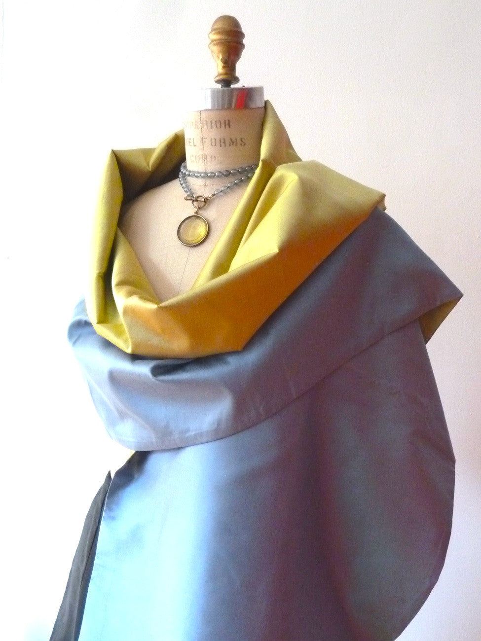 Double Sided Evening Shawl Powder Blue Pearl