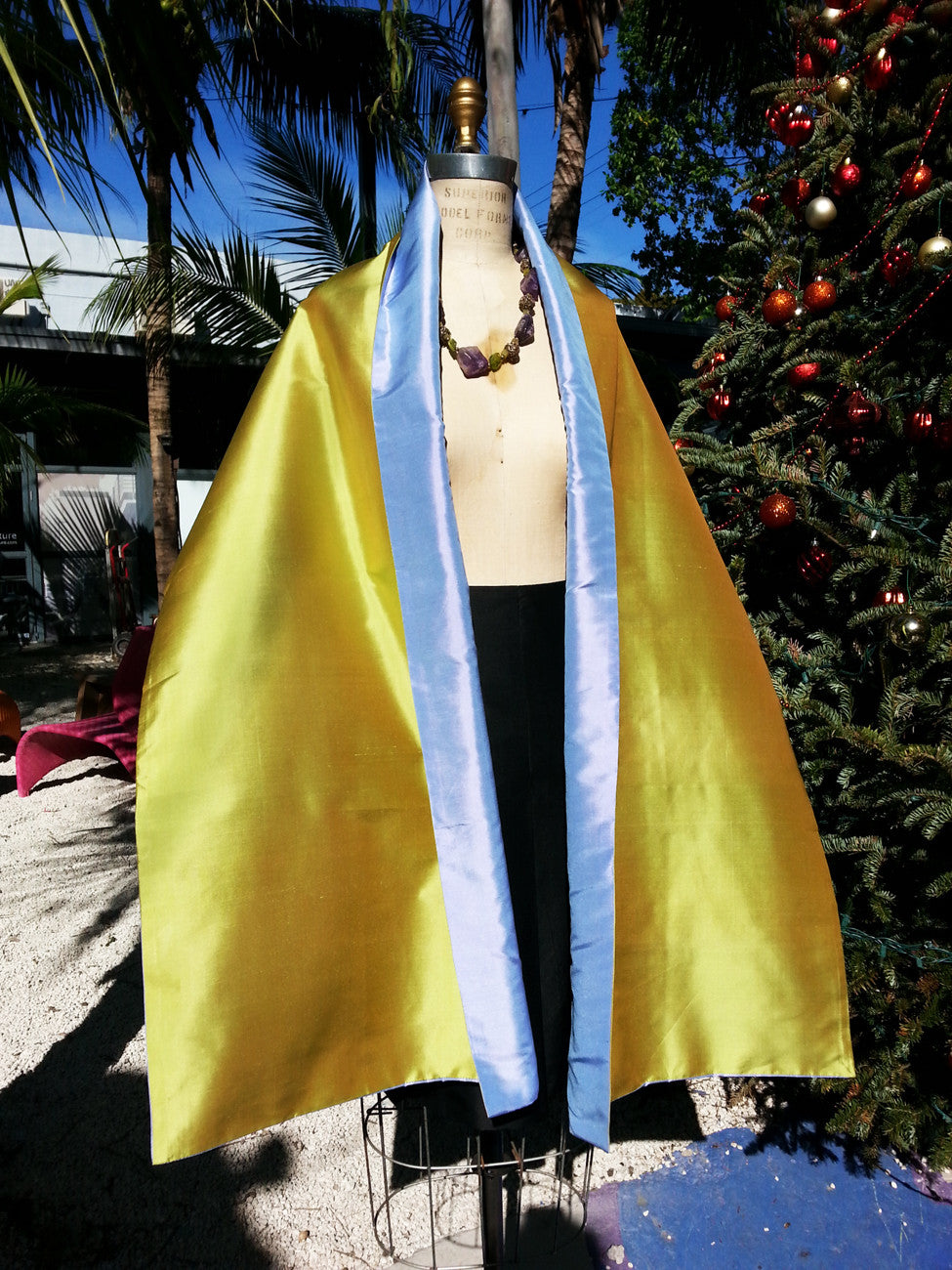 Double Sided Evening Shawl Citrine Combinations