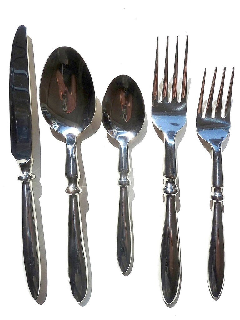 Stainless Steel Tudor Design 5 Piece Place Setting