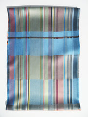 Scarf Silk Colorblock Blue Multi