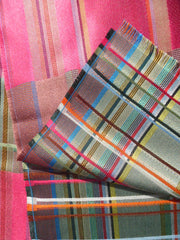 Scarf Silk Colorblock Pink Multi