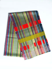 Scarf Silk Cashmere Colorblock Grey Multi