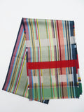 Scarf Silk Cashmere Colorblock Blue Multi