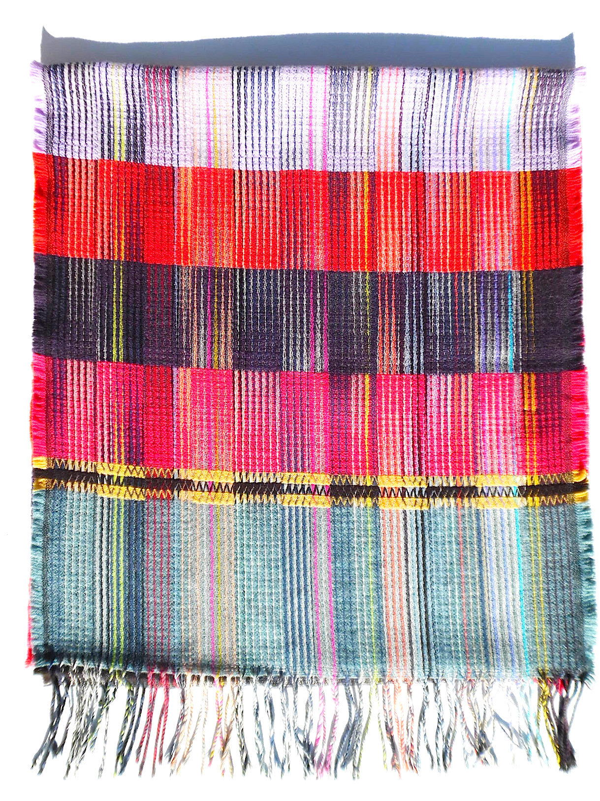 Scarf Lambswool Colorblock Large 2