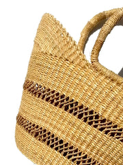 African Market Tote Bag Lace Detail