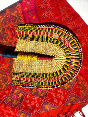 Large African Hand Woven Fan