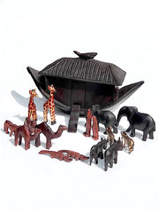 Wood Noah's Ark With Animals